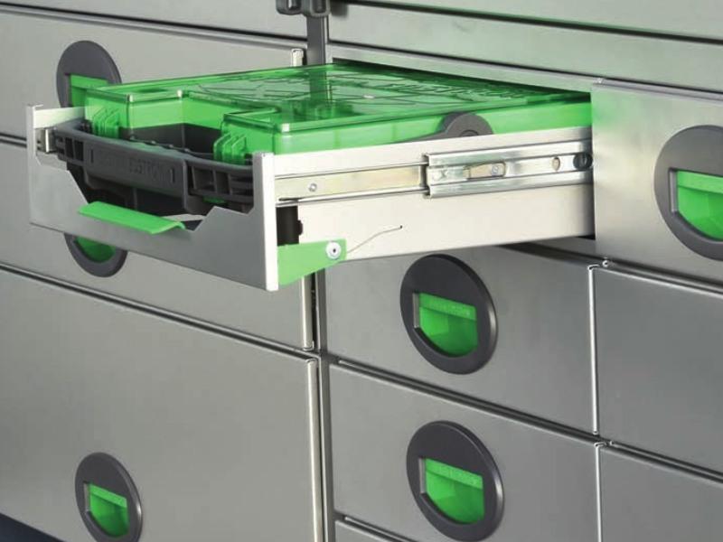 Grön verktygslåda för skåpbil