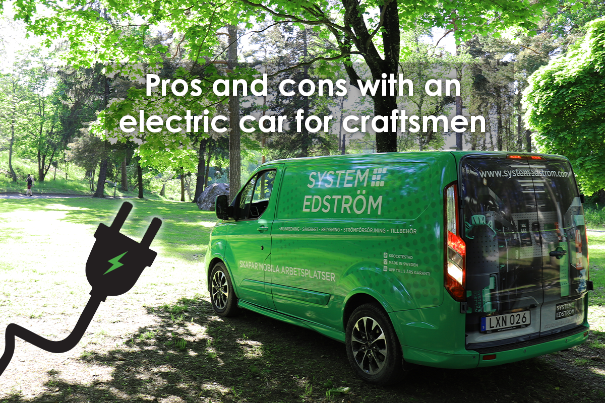 Pros and cons with an electric van for craftsmen